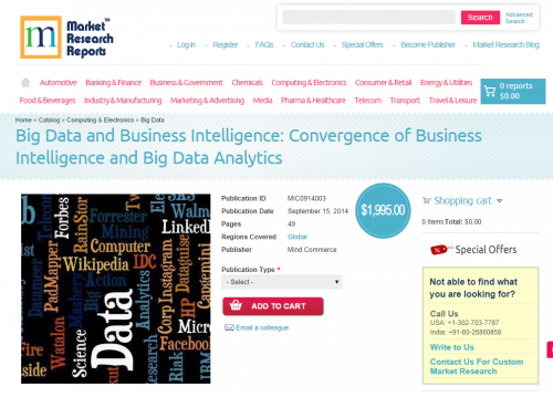 Convergence of Business Intelligence and Big Data Analytics'