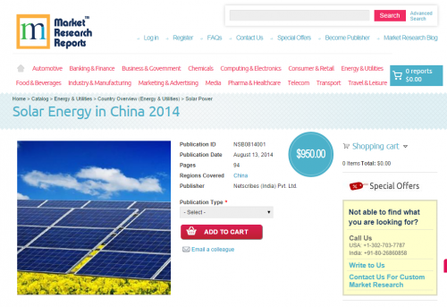 Solar Energy in China 2014'