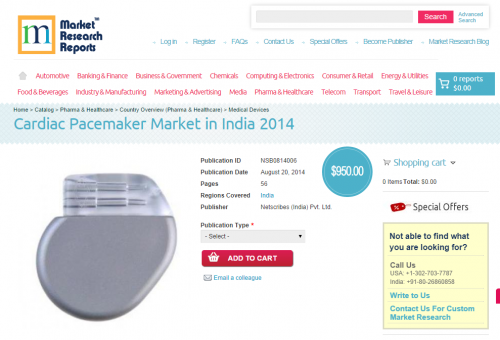 Cardiac Pacemaker Market in India 2014'