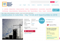 Construction in Colombia Opportunities to 2018