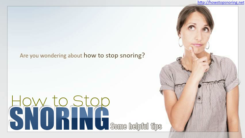 How to Stop Snoring At Night'