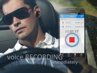 Taker-Bluetooth headset with voice recording APP