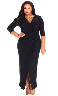 IGIGI Plus Size Yasmine Dress in Black