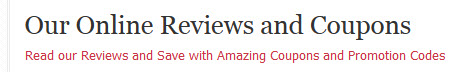 our online reviews'