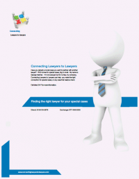Connecting Lawyers to Lawyers Brochure