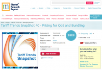 Tariff Trends SnapShot 40 - Pricing for QoS and Bundling