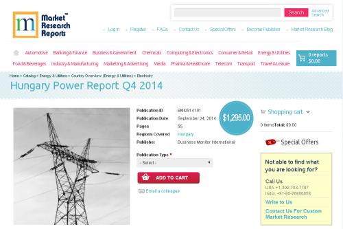 Hungary Power Report Q4 2014'