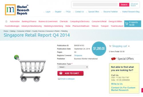 Singapore Retail Report Q4 2014'