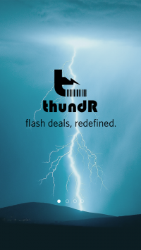 thundR- A personalized one screaming deal a day app
