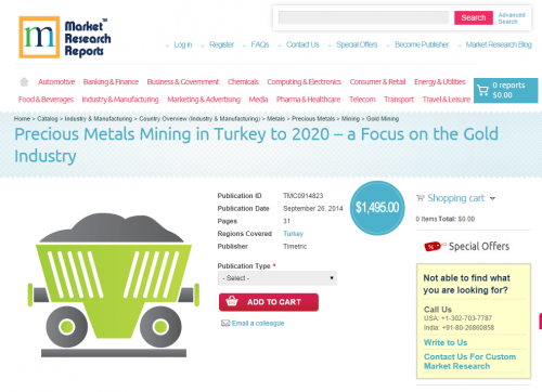 Precious Metals (Gold) Mining in Turkey to 2020'