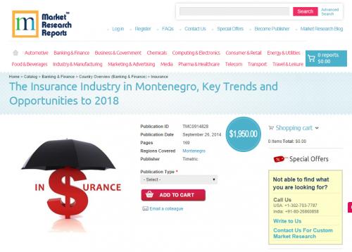 Montenegro Insurance Industry Opportunities to 2018'
