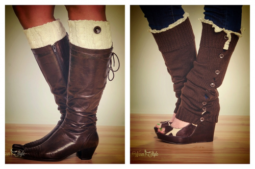 Stay Warm in Style Boot Cuffs'