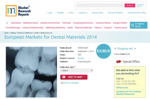 European Markets for Dental Materials 2014'