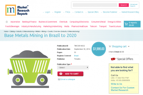 Base Metals Mining in Brazil to 2020'