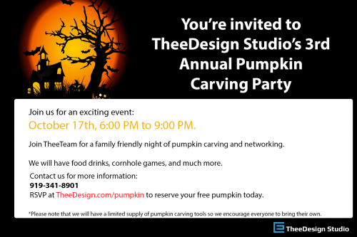 Pumpkin Carving Party Invitation'