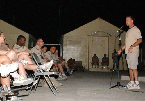 Don Barnhart Entertains The Troops In Afghanistan