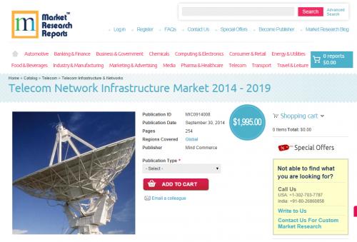 Telecom Network Infrastructure Market 2014 - 2019'