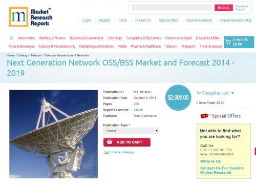 Next Generation Network OSS/BSS Market and Forecast'