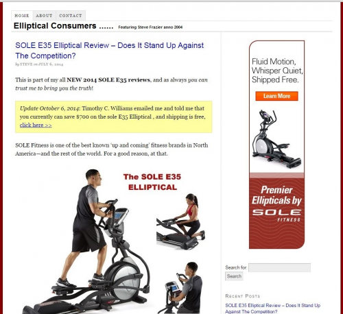 Elliptical Consumers Inc'