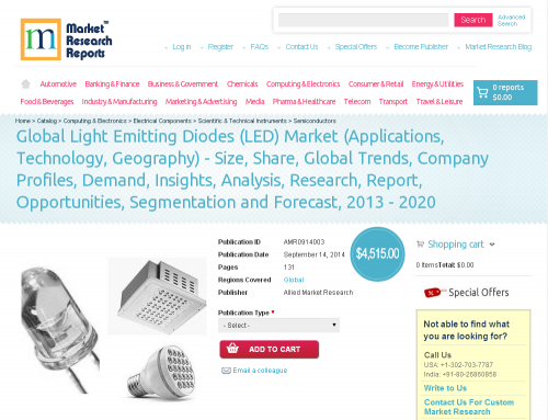 Global Light Emitting Diodes (LED) Market Forecast 2013 - 20'