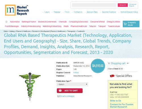 Global RNA Based Therapeutics Market Forecast to 2013 - 2020'
