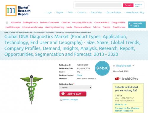 DNA Diagnostics Market Forecast to 2013 - 2020'
