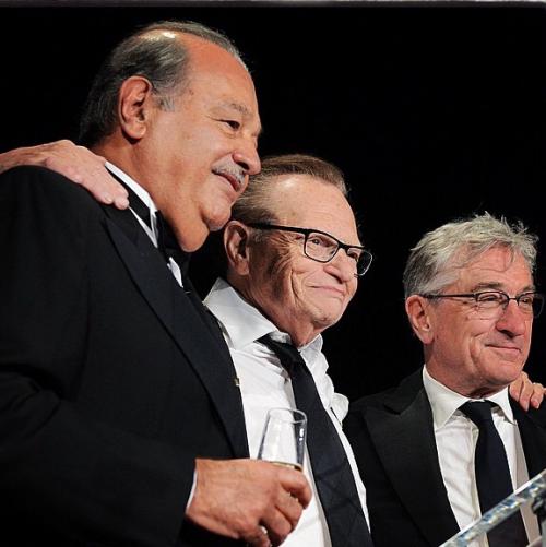 Carlos Slim Robert Deniro and Larry King'