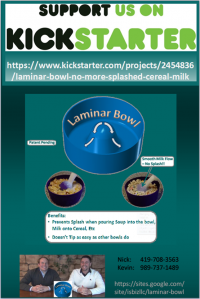 Laminar Bowl - No More Splashed Cereal Milk, Soup, Etc