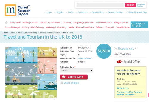 Travel and Tourism in the UK to 2018'
