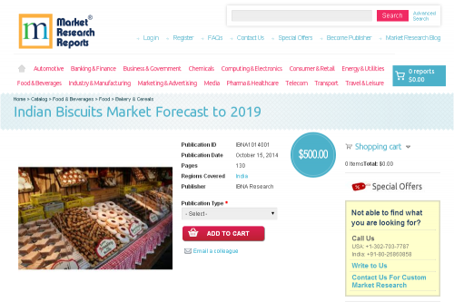 Indian Biscuits Market Forecast to 2019'