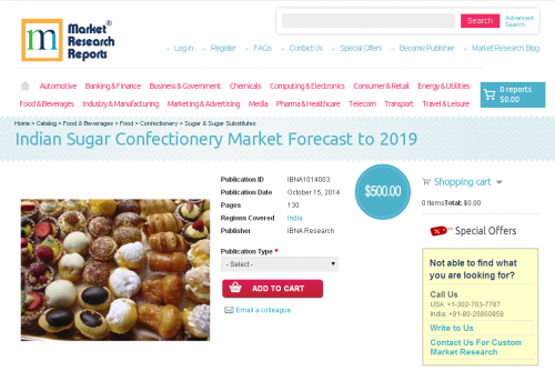 Indian Sugar Confectionery Market Forecast to 2019'