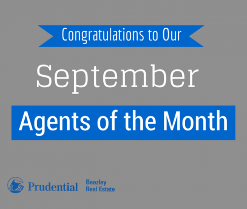 Congratulations to September's Agents of the Month'