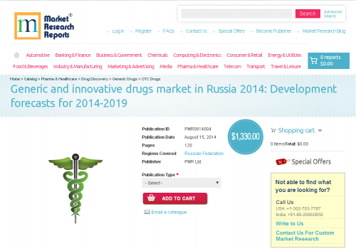 Generic and innovative drugs market in Russia 2014'