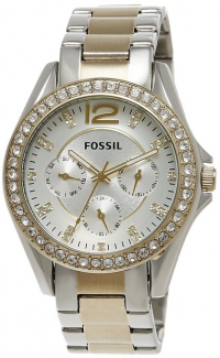 Fossil Riley Gold Silver Tone Watch