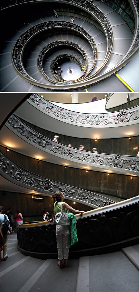 Vatican Museums spiral staircase'