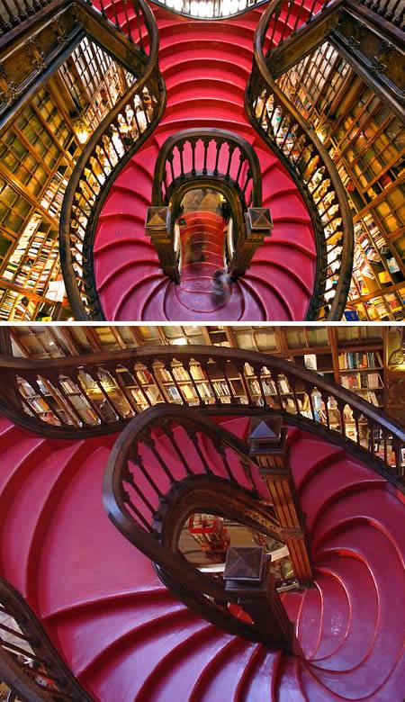 Staircase at Lello Bookshop (Portugal)'