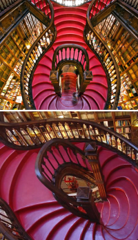 Staircase at Lello Bookshop (Portugal)