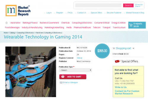 Wearable Technology in Gaming 2014'