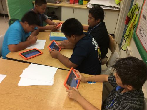 Hawaii Elementary Students on DimensionU TowerStorm App'