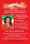"""Cristina Fontanelli's 11th-annual """"Christmas i'"""