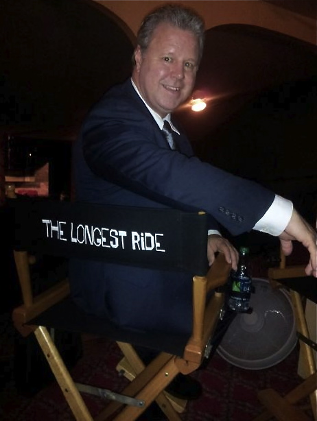 "Barry Ratcliffe on the set of ""The Longest Ride&amp"