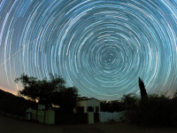 Star trails above Oracle State Park by Mike Weasner