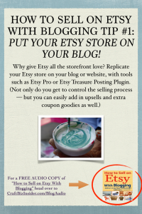 How to Sell on Etsy With Blogging Tips