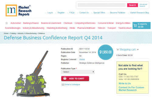 Defense Business Confidence Report Q4 2014'