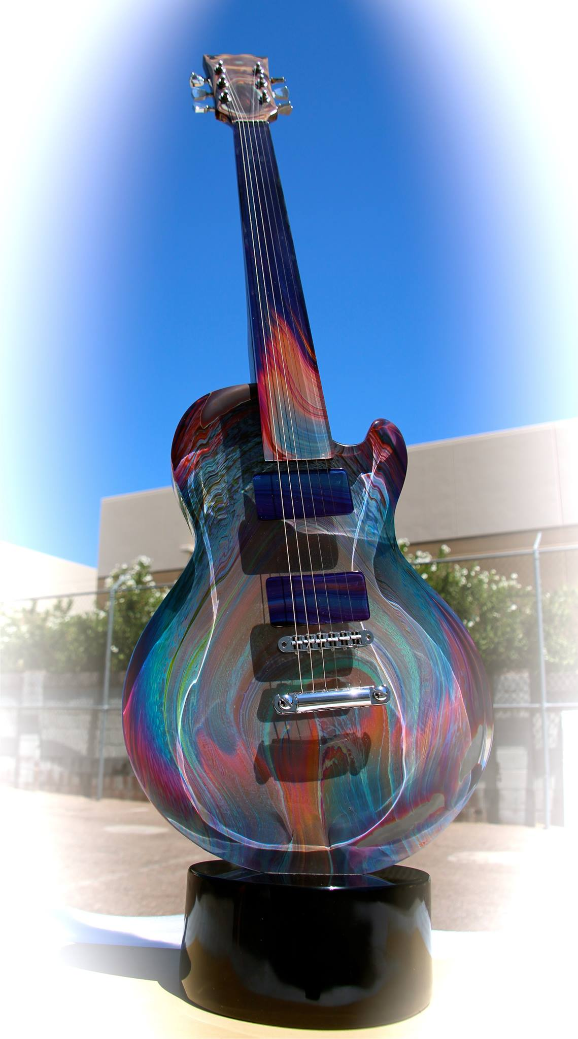 Glass Gibson Guitar Shipped by Craters & Freighters