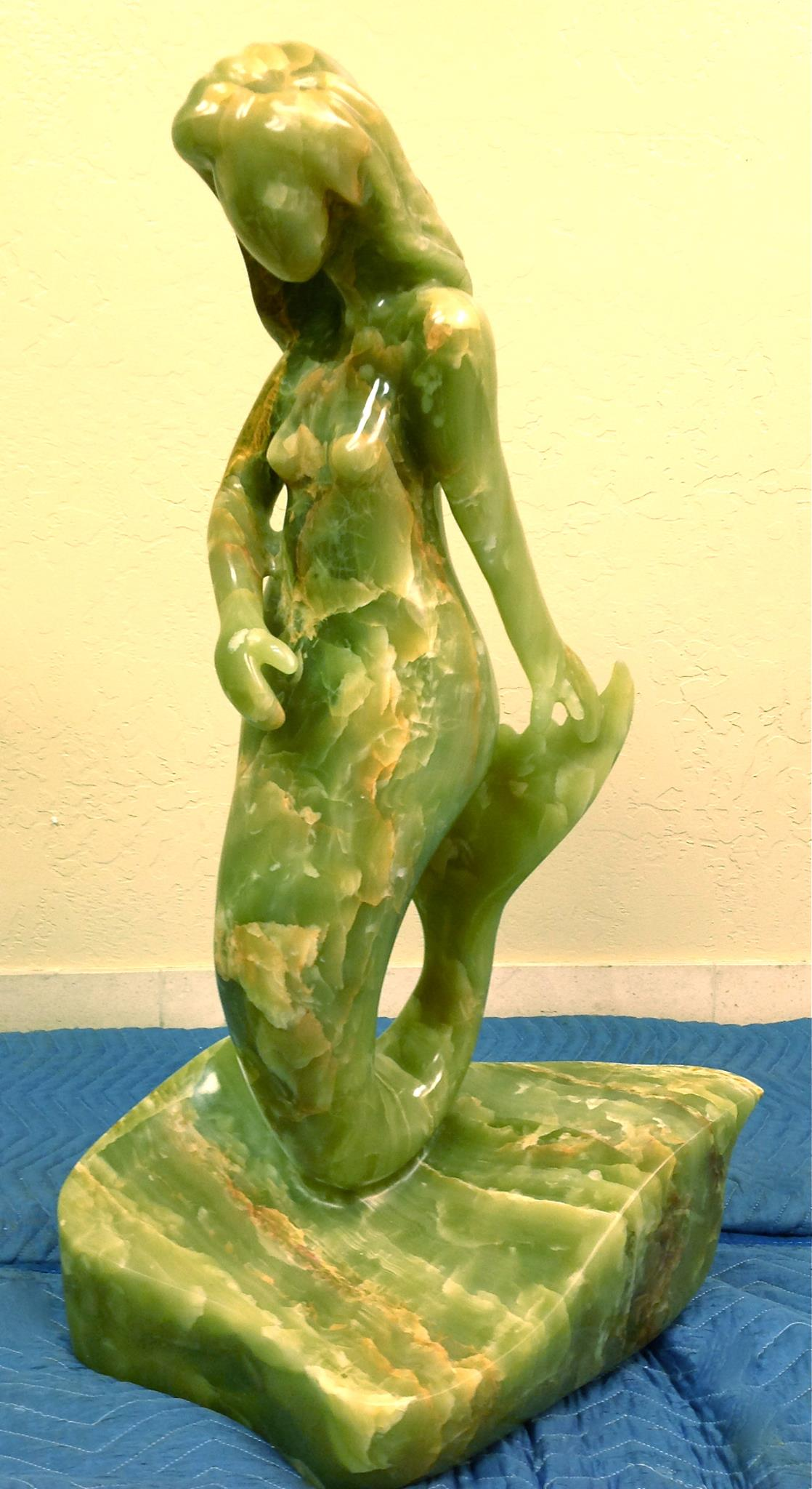 Argentine Onyx mermaid sculpture