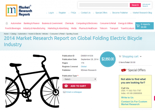Global Folding Electric Bicycle Industry Market 2014'