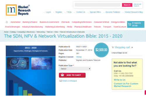 The SDN, NFV & Network Virtualization Bible: 2015 -'