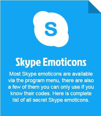 secret skype emoticons'