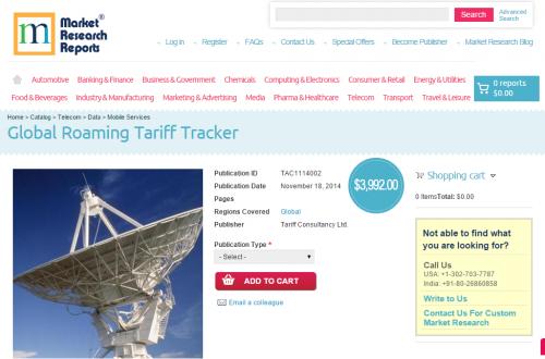 Global Roaming Tariff Tracker'